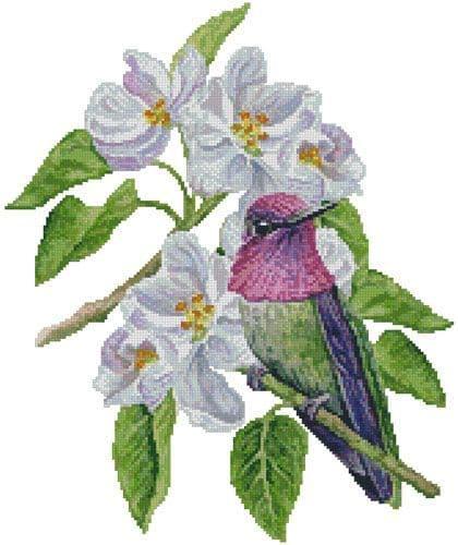 Anna's Blossom by Artecy printed cross stitch chart